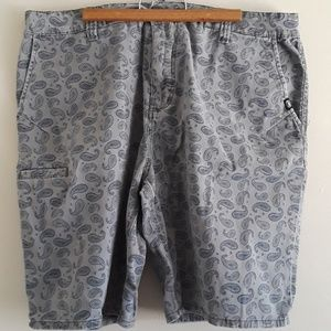 MEN'S ECKO GREY SHORTS PAISLEY PATTERN SIZE 38